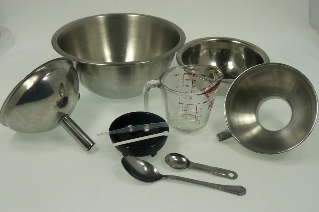 ustensiles pour la fabrication des sels de bain