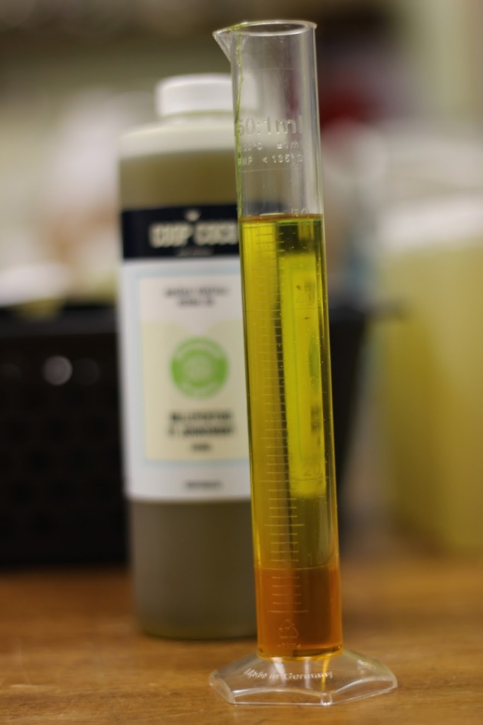 mesurer l'huile