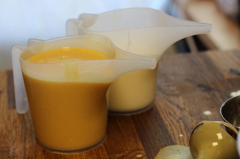 Savon tarte à la citrouille: purée de citrouille et titane