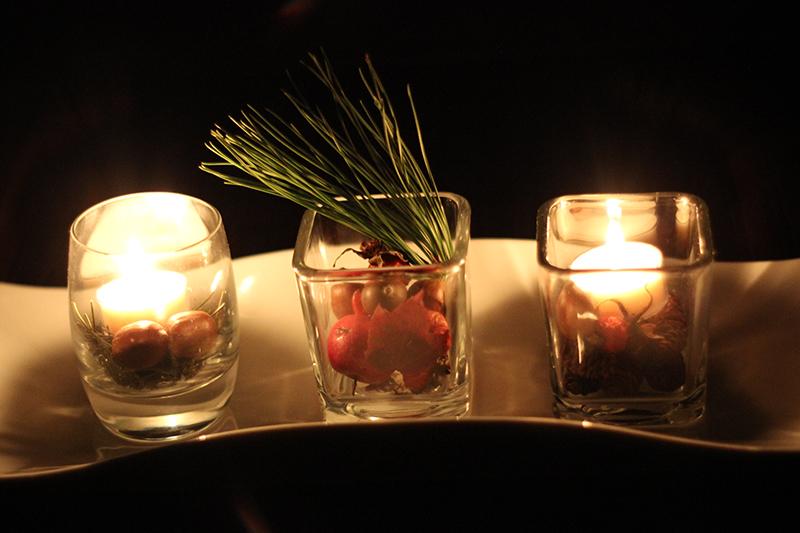 Idée de bougie: le centre de table enchanteur