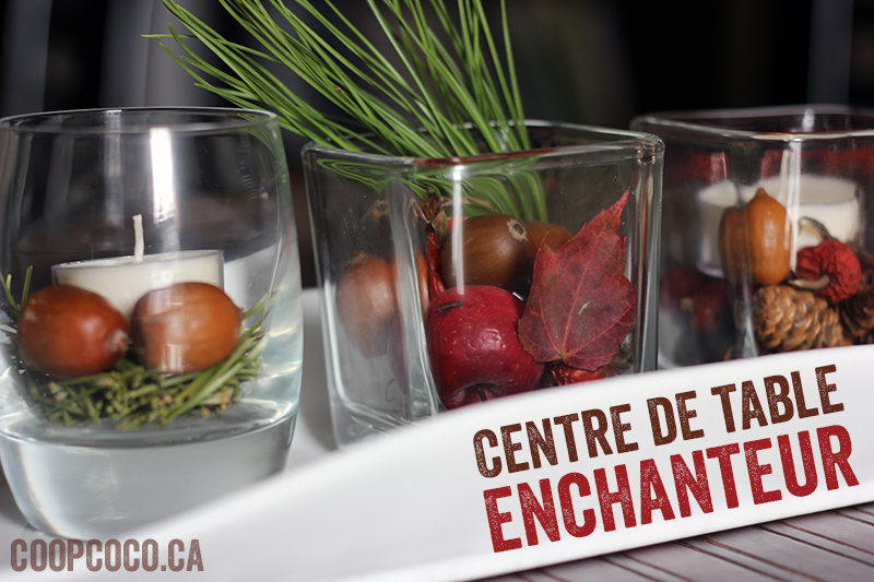Idée de bougie: le centre de table enchanteur
