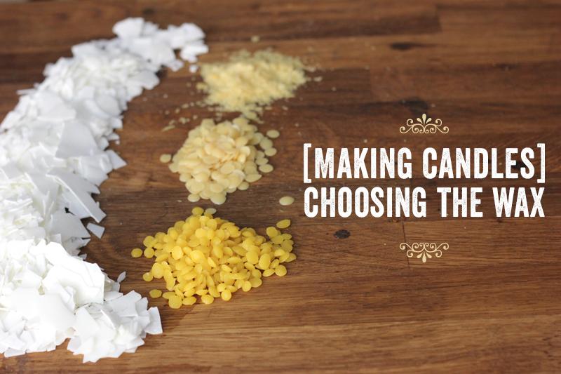 Making candles: choose wax