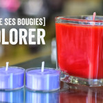 Making candles: Let's color them!