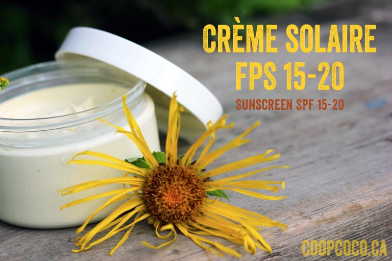 Crème solaire FPS 15-20 / Sunscreen SPF 15-20