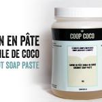 La pâte de savon à l'huile de coco de chez Coop Coco