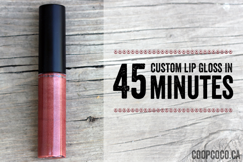 Lip gloss in 45 minutes
