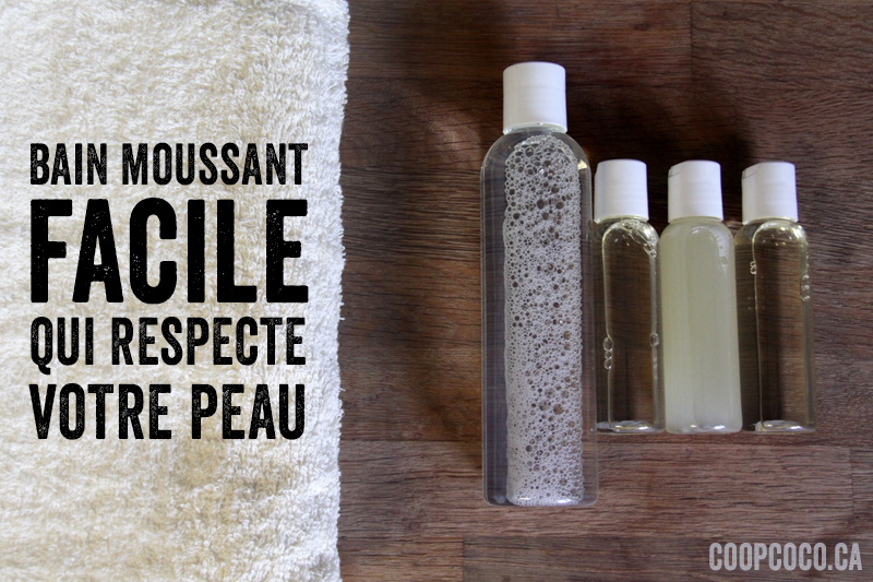 Bain moussant facile
