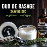 Shaving duo: shaving cream and after-shave tonic