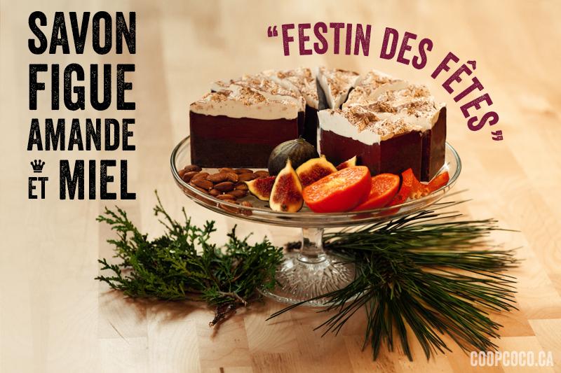 """Savon figue amande et miel """"Festin des fêtes"""""""