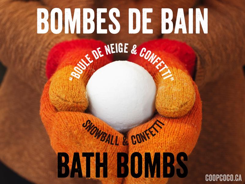 Bombe de bain Boule de neige et confetti