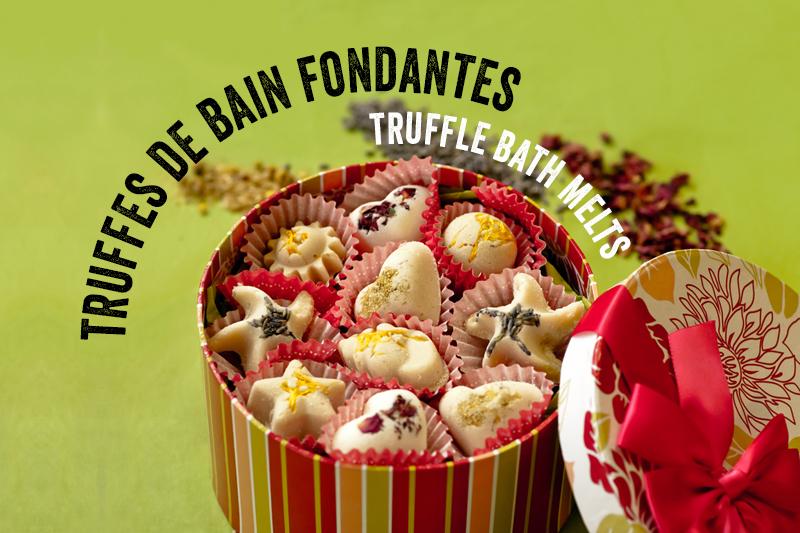 Truffes de bain fondantes - Truffle bath melts