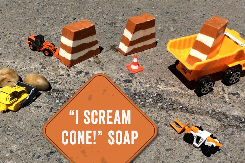 """i scream cone"" soap"