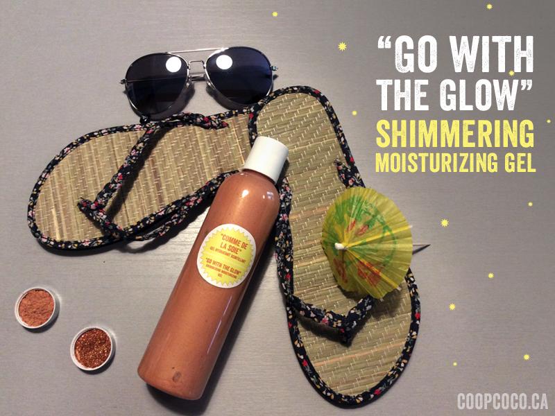 Shimmering gel