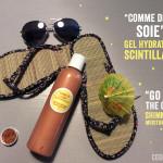 """Comme de la soie"": gel hydratant scintillant"