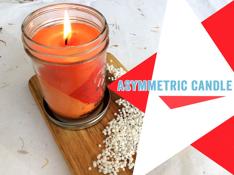 asymetric candle