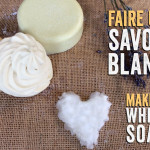 Three tricks for making a white vegetable-based soap