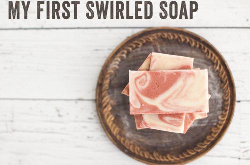 diy swirled soap
