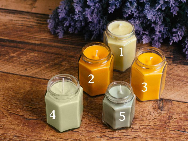 Homemade natural candles