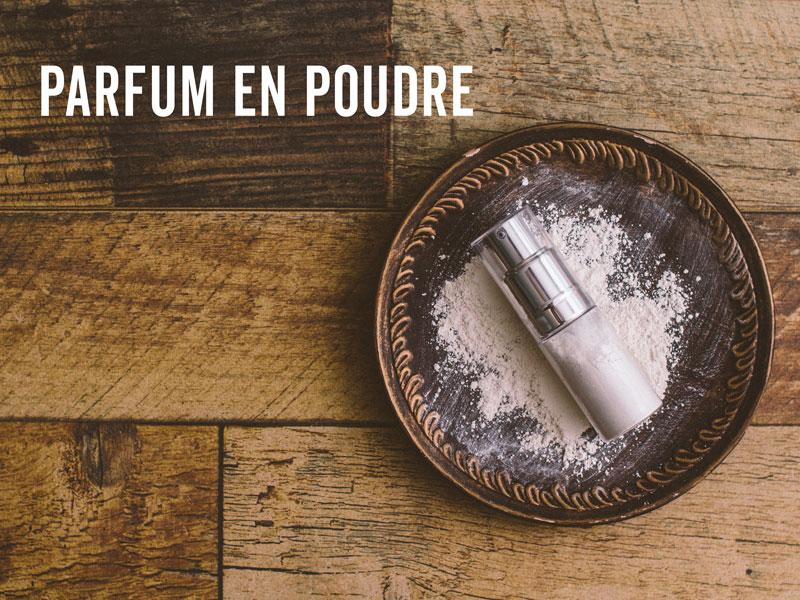 Faire du parfum en poudre